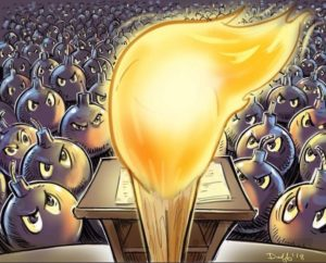 Donald Trump gas lighting his supporteres