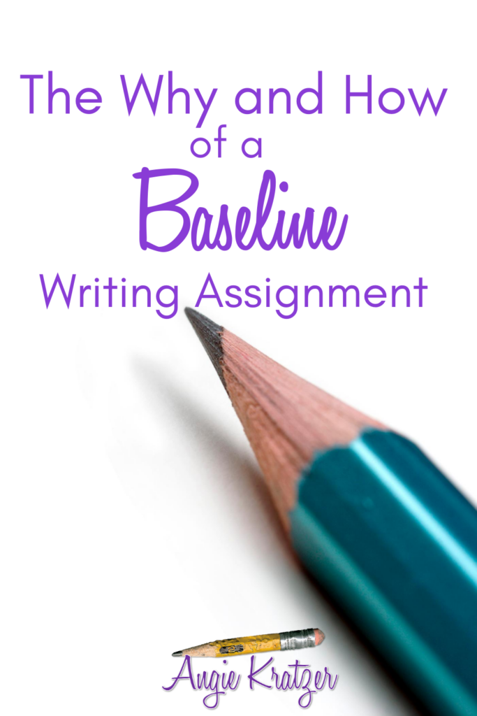 Students provide a baseline writing assignment to give the teacher data for planning.