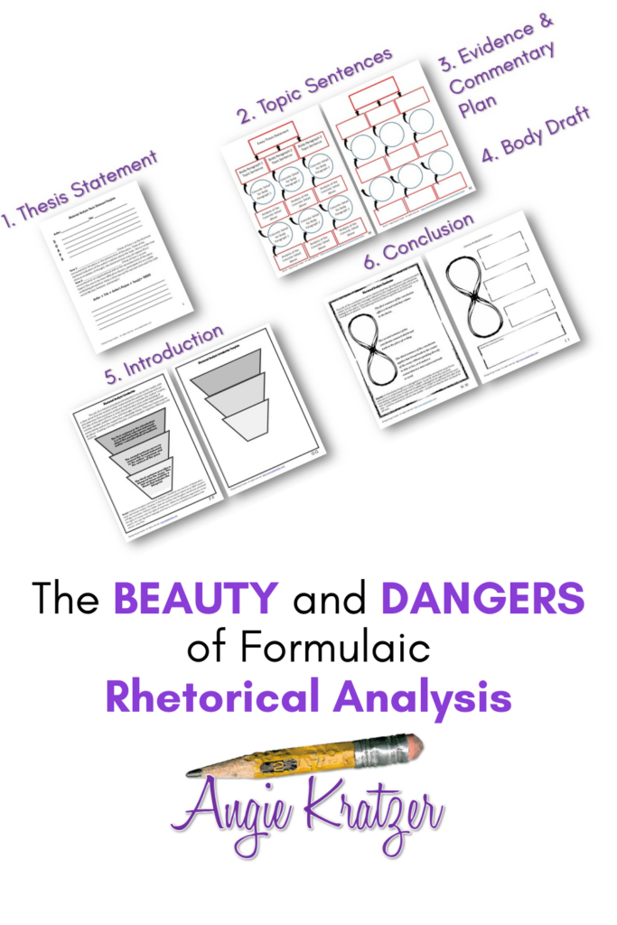 templates and graphic organizers for rhetorical analysis in AP English Language and Composition