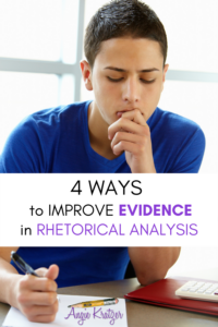 BOY THINKING OF EVIDENCE FOR RHETORICAL ANALYSIS